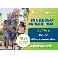 Ingresso Promocional: Disney 6 dias Básico exclusivo para Residentes no Brasil