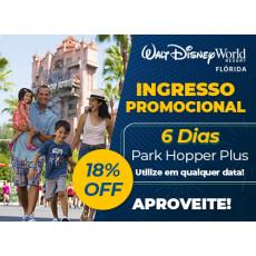 Ingresso Promocional: Disney 6 dias Park Hopper Plus exclusivo para Residentes no Brasil