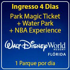 Walt Disney World 4 Park Magic com Water Park + NBA Experience